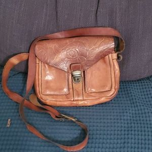 Leather cross body purse